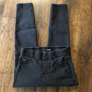 Nine West Pull-On Skinny Jeans Black Sz. 4